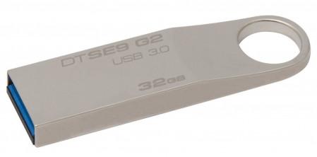 Kingston Technology DataTraveler SE9 G2, 32 GB, 3.0 (3.1 Gen 1), USB-Anschluss Typ A, Ohne Deckel, Silber