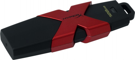 HyperX 128GB, 128 GB, 3.0 (3.1 Gen 1), USB-Anschluss Typ A, 350 MB/s, Kappe, Schwarz, Rot
