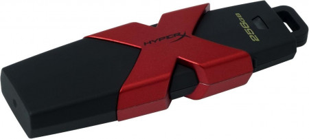 HyperX 256GB, 256 GB, 3.0 (3.1 Gen 1), USB-Anschluss Typ A, 350 MB/s, Kappe, Schwarz, Rot