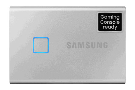 Samsung Portable SSD T7 touch, 1TB, silber