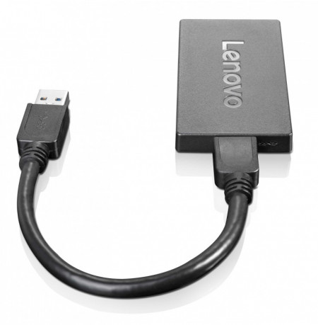 Lenovo 4X90J31021 USB DisplayPort Schwarz Kabelschnittstellen-/adapter